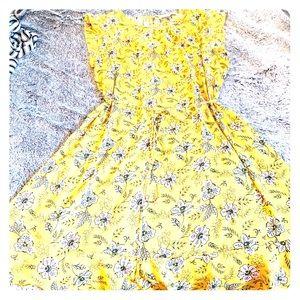Yellow LOFT dress with tie belt
